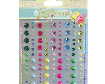 Forget-me-not Adhesive Gems & Pearls - Dovecraft - DCGE011