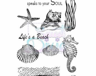 Sweet Dixie - Sea Creatures - A6 clear stamp set