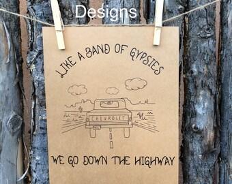 Band of Gypsies 8 X 10 Print