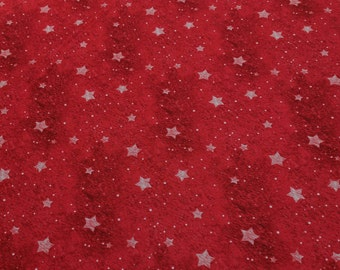 Old World Christmas-Red Stars Cotton Fabric from SPX Fabrics