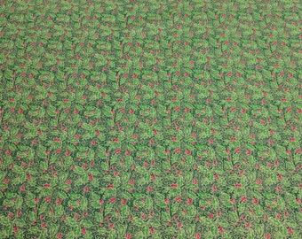 Holiday Editions-Holly Leaves Cotton Fabric from Fabri-Quilt