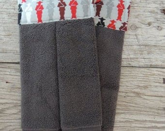 Mountie Hanging Towel - Hanging Towel - Mountie Decor - Kitchen Towel - Canadiana Decor - Rustic Kitchen Decor - RCMP Decor - Hand Towel