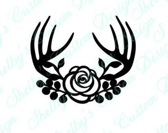 Antler Wall Decal, Antler Arrangement, Wall Stickers, Modern Wall Decals, Vinyl Wall Decals