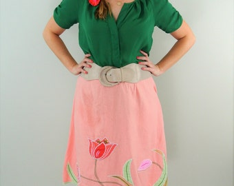 SALE*** Unique Embroidered Tulip Skirt (RQT)
