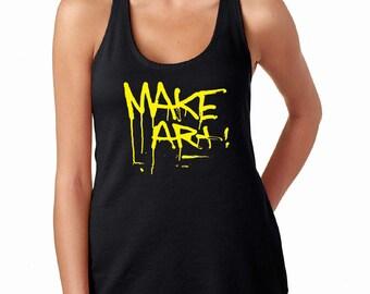 Make Art Tank, Art Tank, Fun Ladies Tank