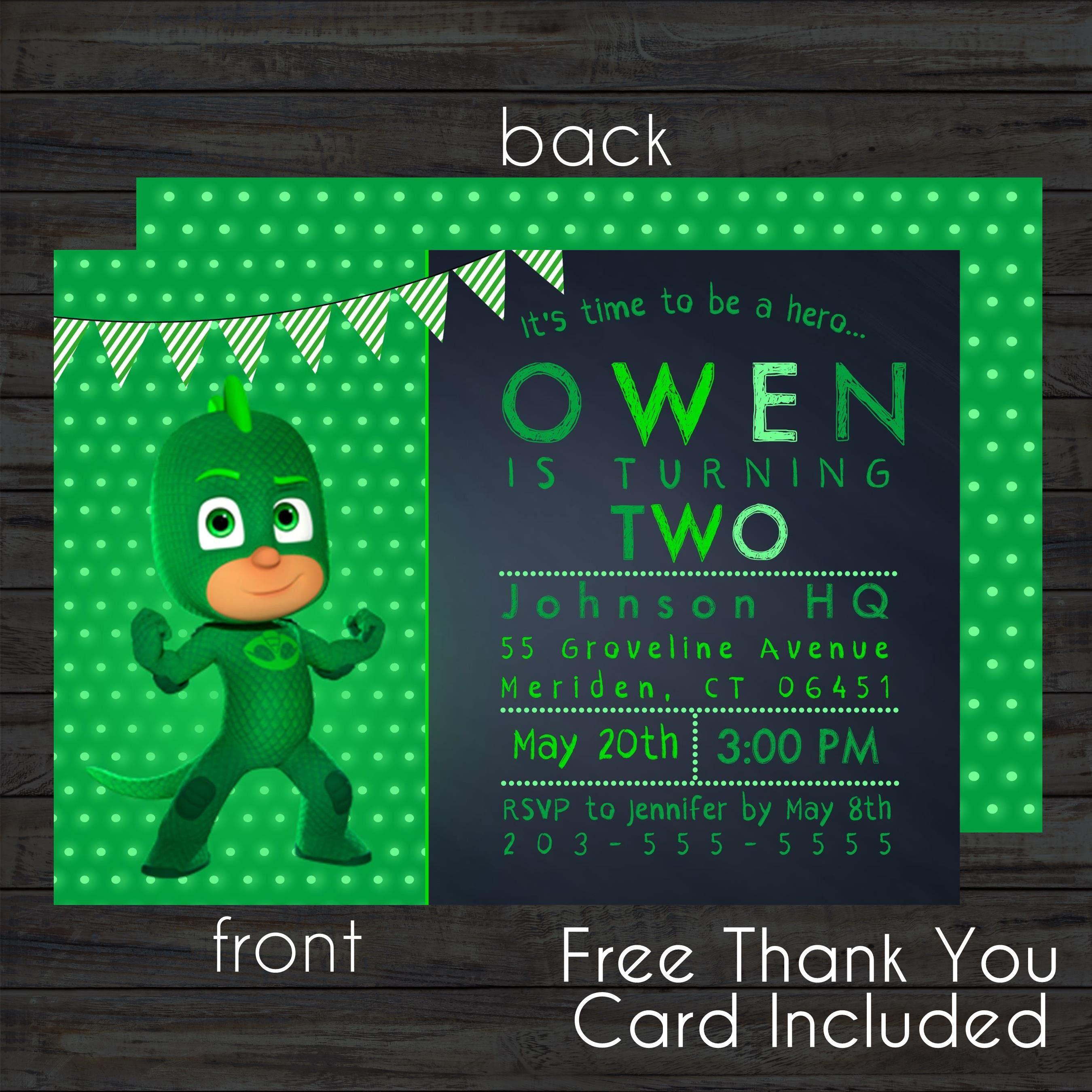 Zsonglor robot 5 labdaval 163 - Gekko Invitation Free Thank You Card File Pj Masks Invitation Pj Masks Birthday Pj Masks Party Pj Masks Invite Digital