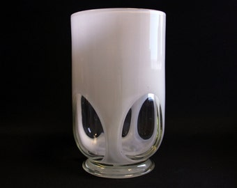 Vintage white glass vase