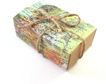 World map gift box, set of 2