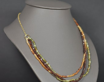 Bacchus necklace - trio of Garnet