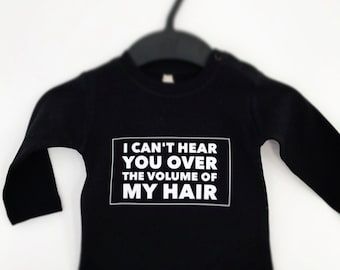 I can't hear you over the volume of my hair kids Longsleeve in black