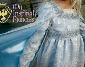 The Princess Bride Buttercup Wedding Dress and Crown Full Costume for Girls