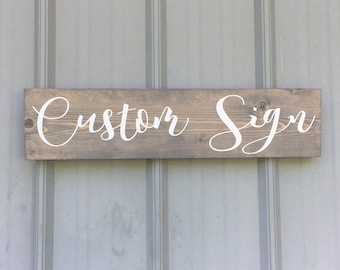 Custom Wooden Sign | Wall decor | Home Decor | Personalized Sign | Home Sign |
