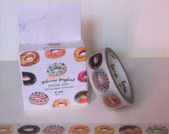 Donuts Desserts Cute Kawaii Decorative Washi Tape // Scrapbooking Bullet Journal Journalling BW011