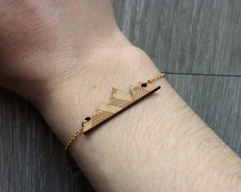 Origami mountain Gold Bracelet
