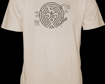 WESTWORLD - MAZE -  T-shirt - Sketch - Hit TV Show Inspired - Graph paper - Brand New Design - Hand Screen Printed