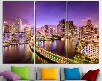 Miami Florida Miami skyline Miami downtown Miami Art Miami Canvas Miami Print Miami Poster Miami Photo Miami Wall Art Miami Wall Decor