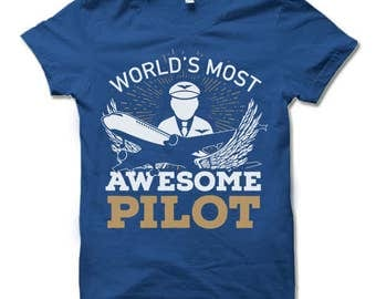 Pilot Shirt. Pilot Gift. Aviation Gift.