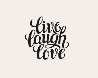 Laugh Love Decal Etsy - Wall decals live laugh love