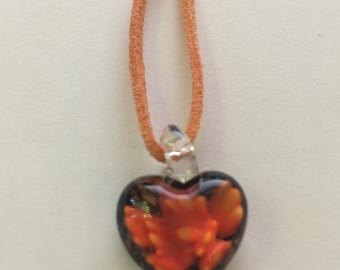 Glass Heart Necklaces