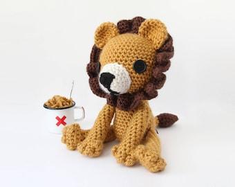 Crochet Lion Stuffed Animal Doll – stuffed animal toy, handmade to order