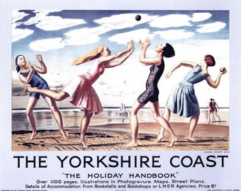 Vintage LNER Yorkshire Coast Railway Poster A3/A2/A1 Print