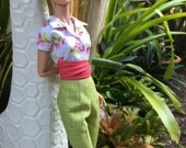 "Capri Set for 16"" Poppy Parker Fashion Teen or Gene Marshall by Randall Craig RTW"