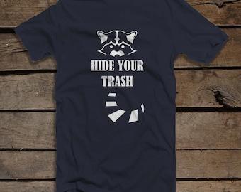 Raccoon Men's T-shirt - Raccoon Trashcan Shirt - Funny Raccoon Shirt for Men - Wildlife T-shirt - Rodent Shirt