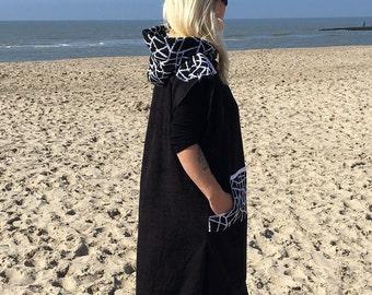 Surfponcho Towel surfcape / hoodie, cape, badstof poncho, surf handdoek