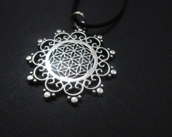 Flower of Life necklace Talisman Sacred Geometry
