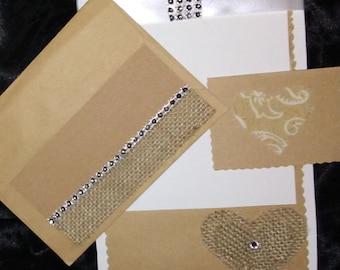 Custom Invitations w/matching envelopes (Set of 10)