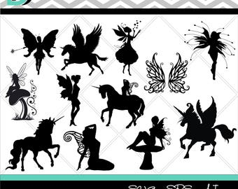 Unicorn svg, Fairy svg, Silhouette Studio, Unicorn svg, Wings svg, Angle svg, Files for Cricut, Cutting Files svg, Cricut Design Space.