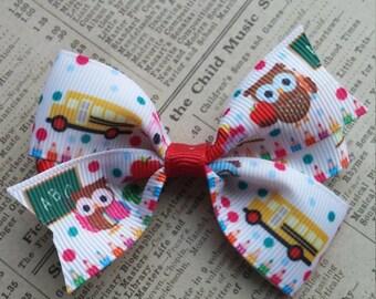 ABC Owl Hair Bow, girls hair bows, cute hair, party favors