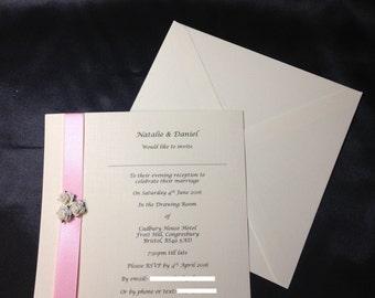 Personalised Wedding Evening Invitation