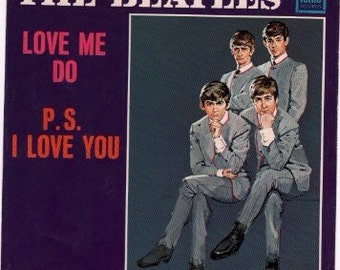 """Vintage Beatles """"Love Me Do/ P.S. I Love You"""" 45 record sleeve"""