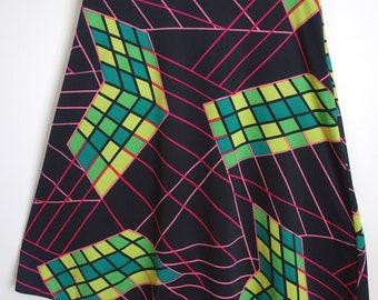 Amazing bright Vintage 1970s 1980s skirt 12