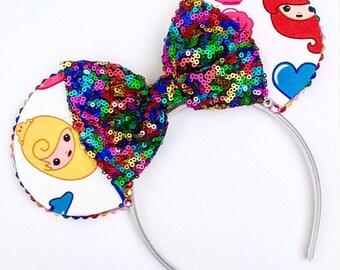 The Girl Squad - Handmade Disney Princess Inspired Mouse Ears Headband