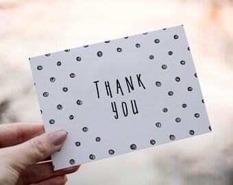 Polka Dot Thank You Card | Thankyou Card | Thank you | Greeting Card | Thank you Greeting card | Printable | Digital | 4 x 6 | thanks