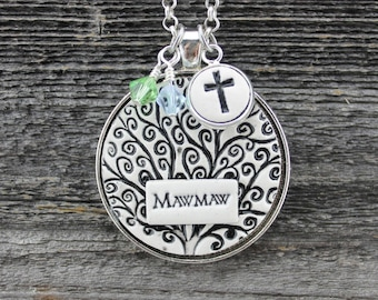 Mawmaw Handmade Pottery Necklace