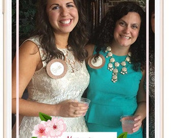Snapchat Geofilter - Cherry Blossoms Bridal Shower