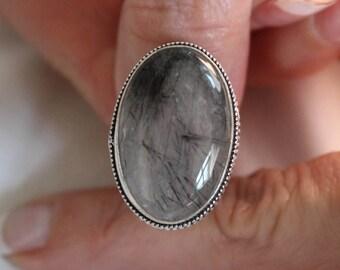 Rutile Quartz Ring- size 7.5!