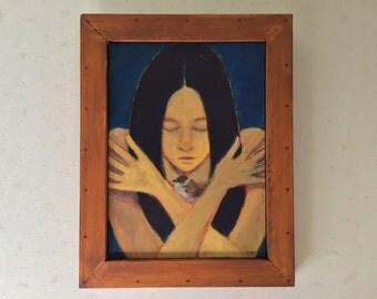Healing: Original Acrylic Painting by Kyoko Watanabe