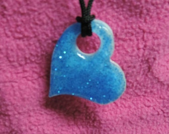 Blue Floating Heart