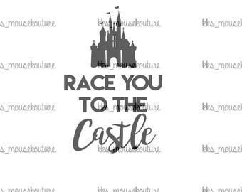 Race you to the castle DIY iron on transfer == DIGITAL DOWNLOAD