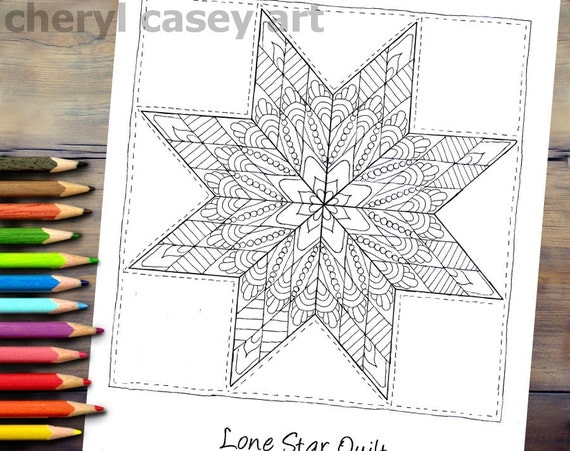 Printable Coloring Page Quilt