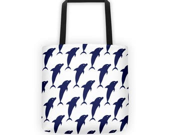 Dolphin Pattern Tote Bag
