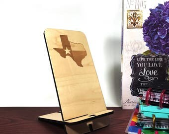 Texas Flag Phone Stand - Cell Phone Stand - Charging Station - Docking Station - Phone Stand - Phone Holder - Wood Phone Holder - Cell Phone