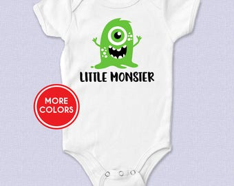 Little Monster Baby Bodysuit, Little Monster Toddler T-shirt, Halloween, Baby's First Halloween, Baby Shower Gift, Cute Funny Baby Clothes