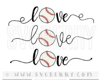 Love Baseball SVG / Baseball Mom Shirts / Baseball Shirt / Baseball Heart Svg / Baseball Mom Svg / Baseball Cap Cut Files Cutting Files / Bg