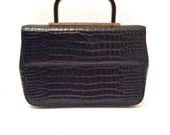 1960's Italian Leather Clutch Handbag