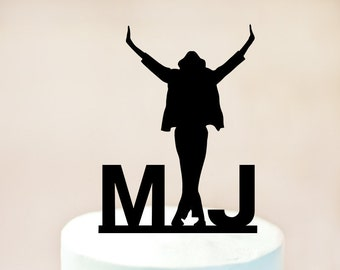 Michael Jackson Cake Topper, Michael Jackson Party,Michael Jackson Birthday,Michael Jackson Decoration,Music Theme (1054)